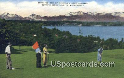 Golf Courses - Seattle, Washington WA Postcard