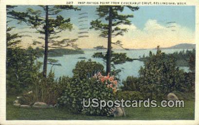 Inspiration Point, Chuchanut Drive - Bellingham, Washington WA Postcard