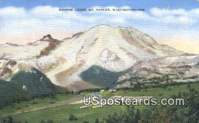 Sunrise Lodge - Mt Rainier, Washington WA Postcard