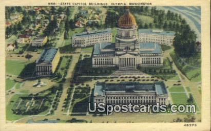 State Capitol Buildings - Olympia, Washington WA Postcard