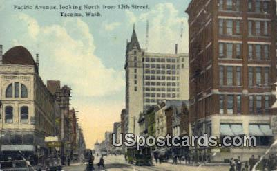 Pacific Avenue - Tacoma, Washington WA Postcard