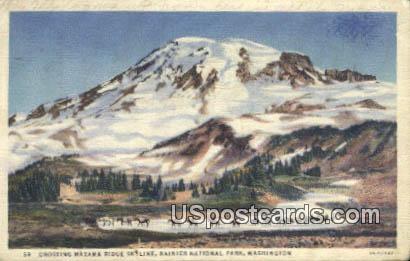 Crossing Mazama Ridge - Rainier National Park, Washington WA Postcard