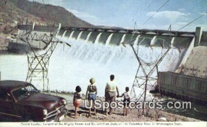 Grand Coulee Dam - Columbia River, Washington WA Postcard