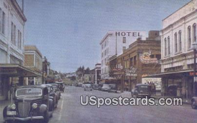 First Street - Mount Vernon, Washington WA Postcard