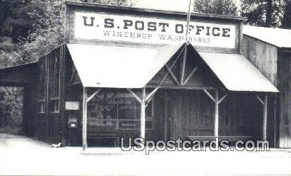 US Post Office - Winthrop, Washington WA Postcard