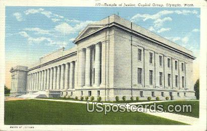 Temple of Justice - Olympia, Washington WA Postcard