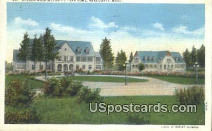 Oregon Washington Pythian Home - Vancouver Postcard