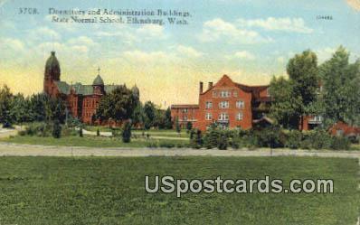 Dormitory & Administration Building - Ellensburg, Washington WA Postcard