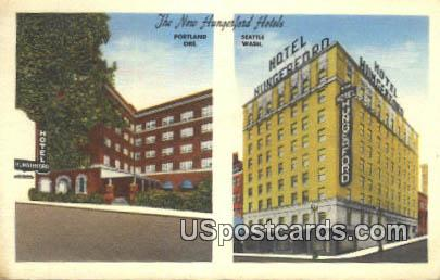 New Hungerford Hotels - Seattle, Washington WA Postcard