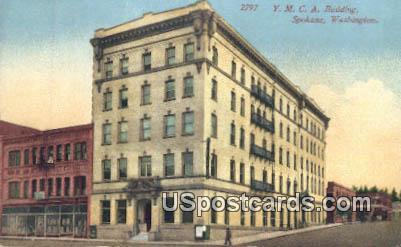 YMCA Building - Spokane, Washington WA Postcard