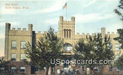 High School - North Yakima, Washington WA Postcard