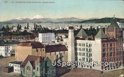 Mt Carleton - Spokane, Washington WA Postcard