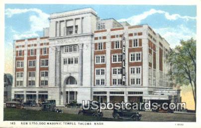 New 750,000 Masonic Temple - Tacoma, Washington WA Postcard