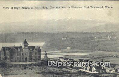 High School & Stadium - Port Townsend, Washington WA Postcard