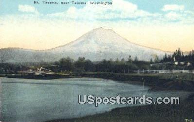 Mt Tacoma - Washington WA Postcard