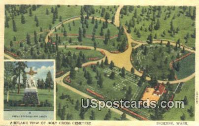 Holy Cross Cemetery - Spokane, Washington WA Postcard