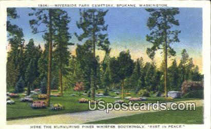 Riverside Park Cemetery - Spokane, Washington WA Postcard