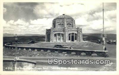 Real Photo - Vista House, Crown Point - Columbia River Highway, Washington WA Postcard