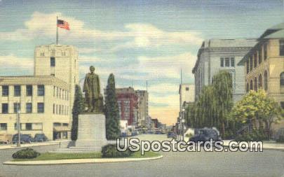 Statue of Abraham Lincoln - Spokane, Washington WA Postcard