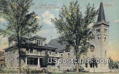 Catholic Church - North Yakima, Washington WA Postcard