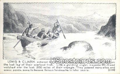 Lewis & Clark - Columbia River, Washington WA Postcard