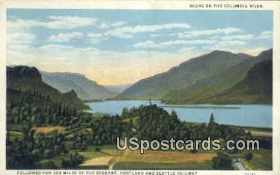 Portland & Seattle Railway - Spokane, Washington WA Postcard