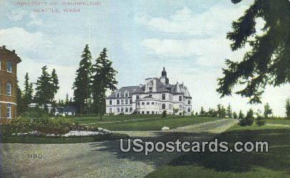 Exposition Seattle 1909 U of Washington - Lake Union Postcard