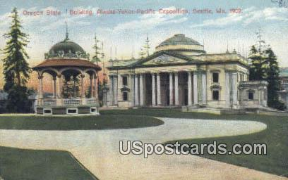 Exposition Seattle 1909 Oregon State Building - Washington WA Postcard