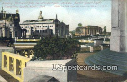 Exposition Seattle 1909 Manufacturers' Building - Washington WA Postcard