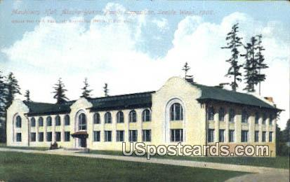 Exposition Seattle 1909 Machinery Hall - Washington WA Postcard
