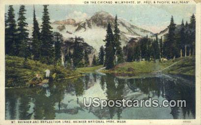 Mt Rainier, Reflection Lake - Rainier National Park, Washington WA Postcard