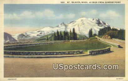 Sunrise Poing - Mt Rainier, Washington WA Postcard