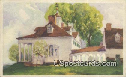 Mount Vernon Mantion - Washington WA Postcard