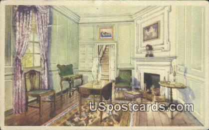 Martha Washington's Sitting Room - Mount Vernon Postcard
