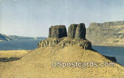 Twin Peaks - Wallula Gap, Washington WA Postcard