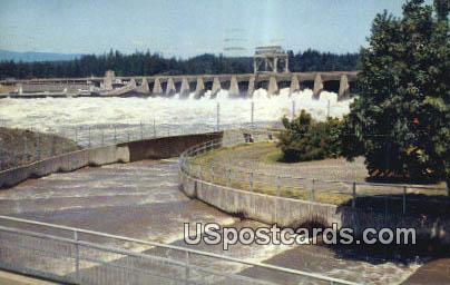 Bonneville Dam, WA Postcard      ;      Bonneville Dam, Washington