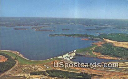 Lake Norman - Cowans Ford Dam, Washington WA Postcard