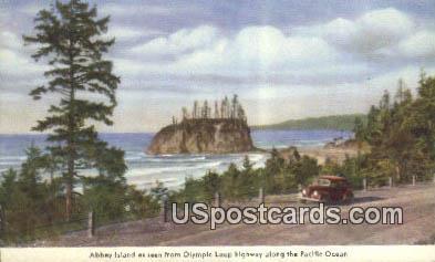 Abbey Island - Olympic Loop Highway, Washington WA Postcard