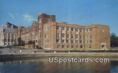 Physics Hall & Frosh Pond - Seattle, Washington WA Postcard