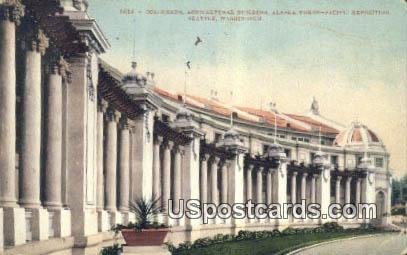 Colonnade, Agricultural Building - Seattle, Washington WA Postcard
