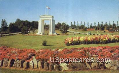 International Peace Arch - Misc, Washington WA Postcard