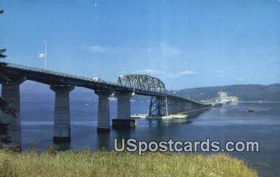 Hood Canal Floating Bridge - Olympic Peninsula, Washington WA Postcard
