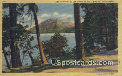 Lake Crescent - Olympia, Washington WA Postcard