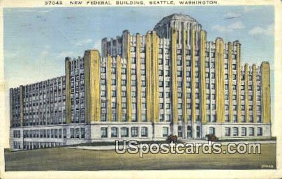 New Federal Building - Seattle, Washington WA Postcard