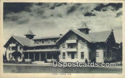Fort Lewis Inn - Olympia, Washington WA Postcard