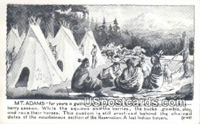 Mt. Adams, WA Postcard      ;      Mt. Adams, Washington