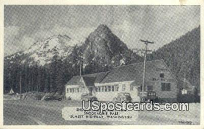 Snoqualmie Summit Inn - Sunset Highway, Washington WA Postcard