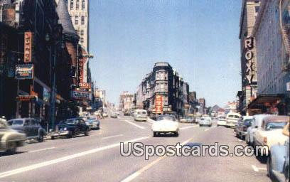 Broadway & St Helens Street - Tacoma, Washington WA Postcard