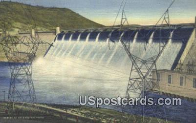 Power Transmission Towers - Grand Coulee Dam, Washington WA Postcard