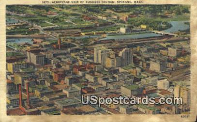 Business Section - Spokane, Washington WA Postcard